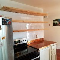 Floating Shelf & Tile Instillation